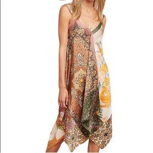 Anthropologie Sebou Scarf-Printed Dress